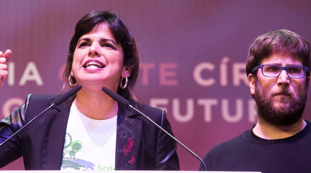 Teresa Rodríguez y Miguel Urbán en Vistalegre 2. (Foto. Podemos)