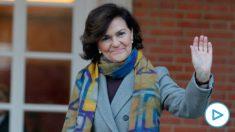 Carmen Calvo, vicepresidenta primera. (Foto: Francisco Toledo)