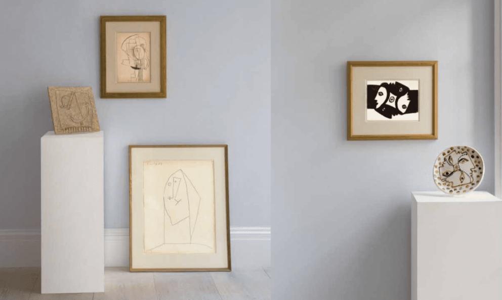 Parte de las obras de Picasso que serán subastadas @Sotheby's
