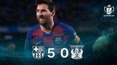 Leo Messi lideró el triunfo del Barça.