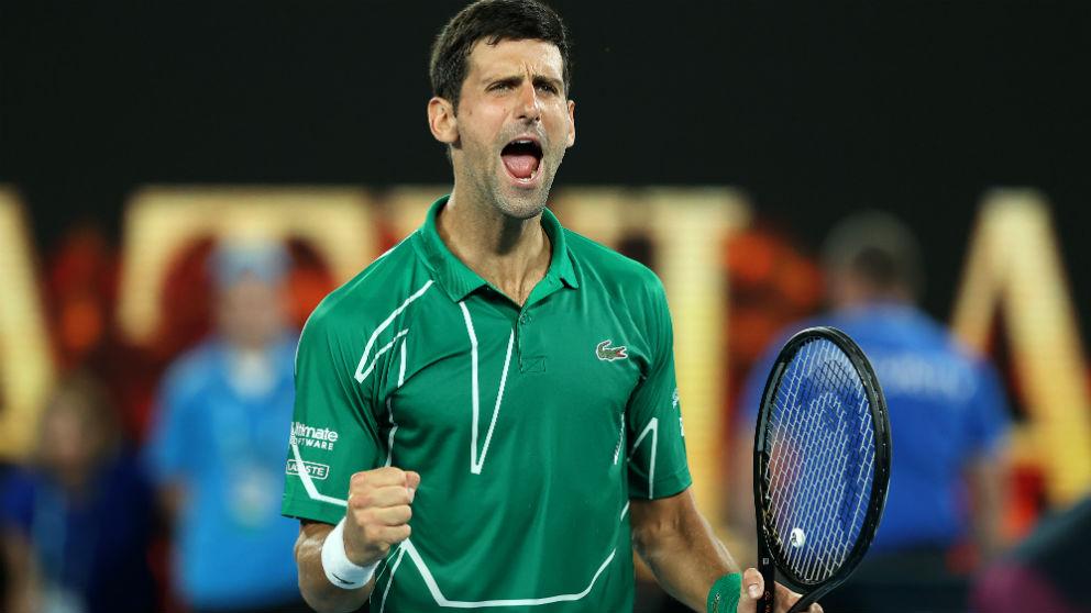 Djokovic celebra su victoria en el Open de Australia. (Getty)