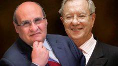 El ex ministro de Defensa de Portugal António Vitorino y el ex embajador de España en Venezuela Raúl Morodo.