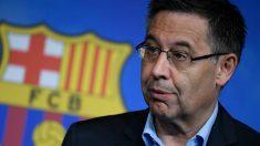Josep Maria Bartomeu, durante una comparecencia. (AFP)
