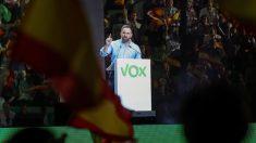 Santiago Abascal en el acto de Vox 'Vistalegre Plus Ultra' en Madrid. Foto EFE