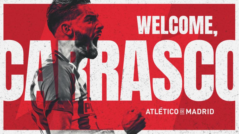 Yannick Carrasco vuelve al Atlético. (atleticodemadrid.com)