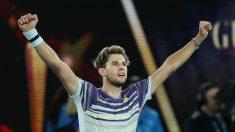 Thiem celebra su triunfo ante Zverev. (Getty)