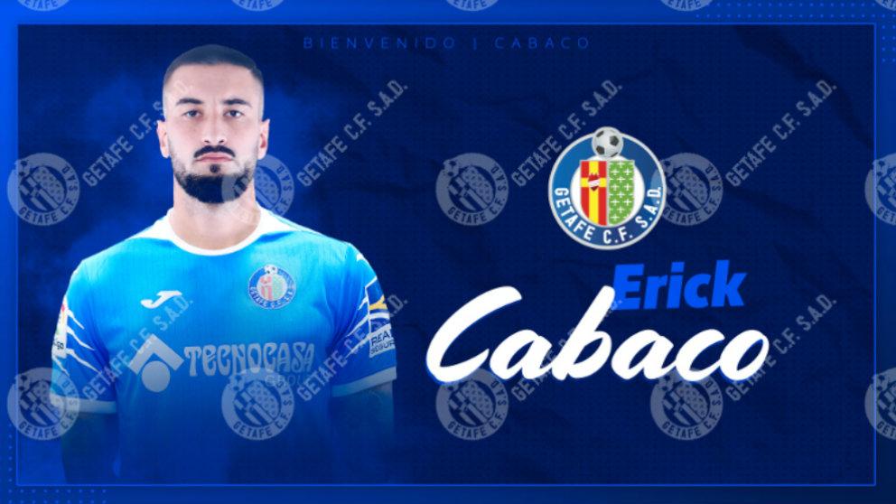 Erick Cabaco, nuevo fichaje del Getafe. (Getafe Club de Fútbol)