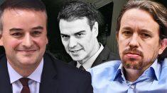 Iván Redondo, Pedro Sánchez y Pablo Iglesias
