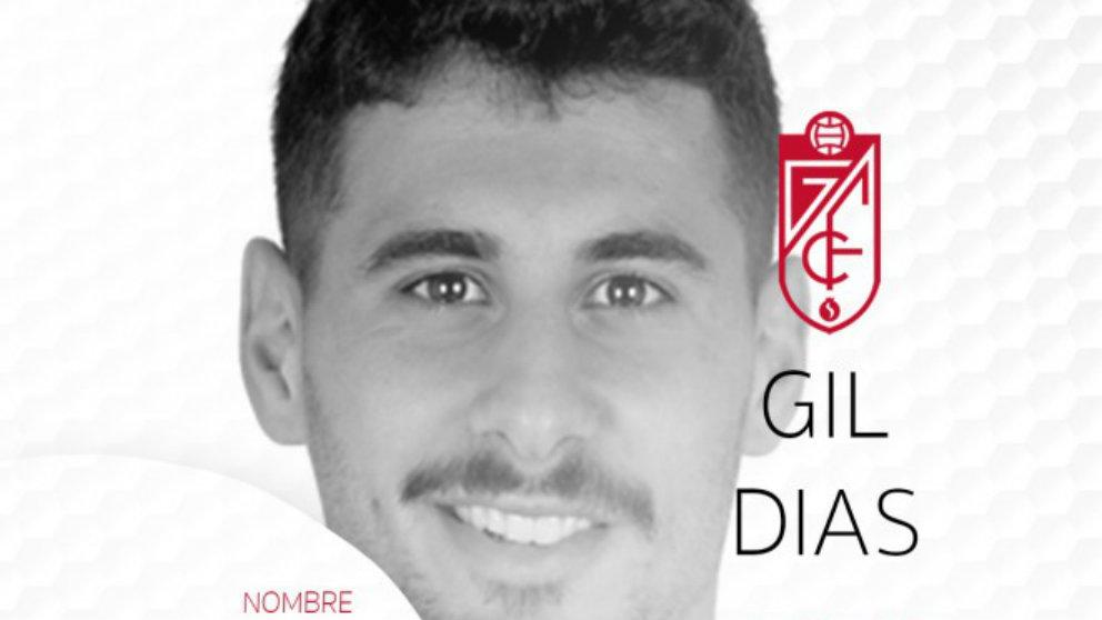 Gil Dias, nuevo fichaje del Granada. (Granada Club de Fútbol)