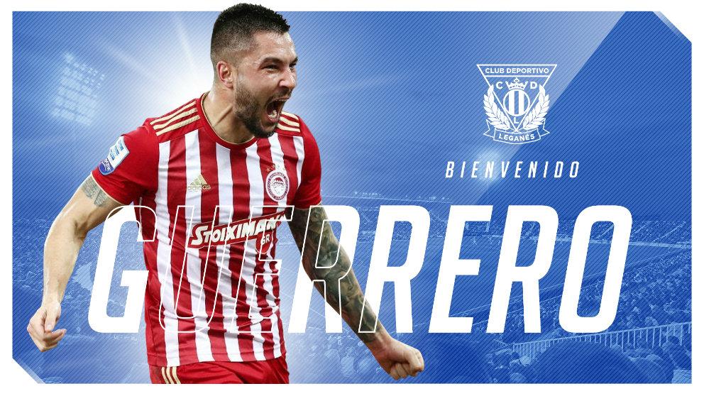 Miguel Ángel Guerrero, nuevo fichaje del Leganés. (Club Deportivo Leganés)