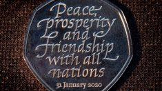 La moneda conmemorativa del Brexit que Reino Unido ha puesto en circulación. Foto: EP