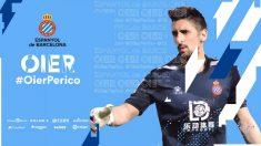 Oier Olazabal, nuevo fichaje del Espanyol. (@RCDEspanyol)