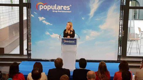 Álvarez de Toledo interviene en la clausura de las interparlamentarias del PPCV. Foto: EP