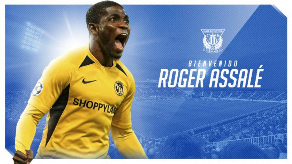 Roger Assalé, nuevo fichaje del Leganés. (Club Deportivo Leganés)