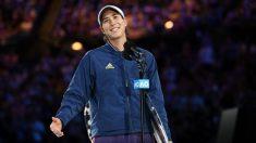 Garbiñe Muguruza tras caer en la final del Open de Australia. (Getty)