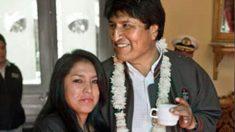 Patricia Hermosa junto a Evo Morales