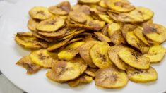 Receta de Aperitivos con chips de frutas