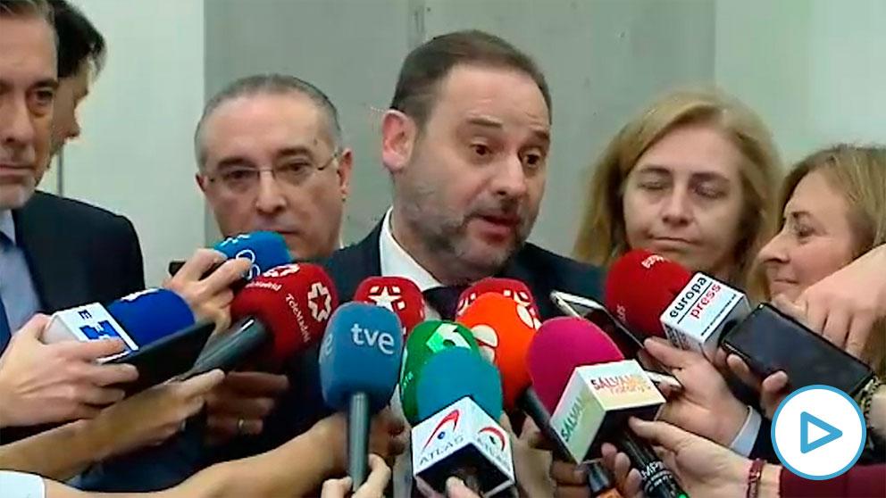 José Luis Ábalos ante los medios.