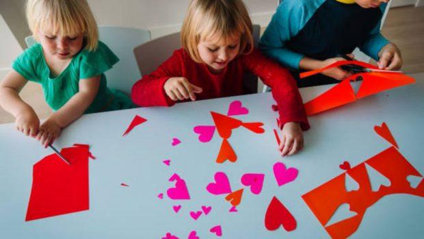 celebrar san valentín con los niños