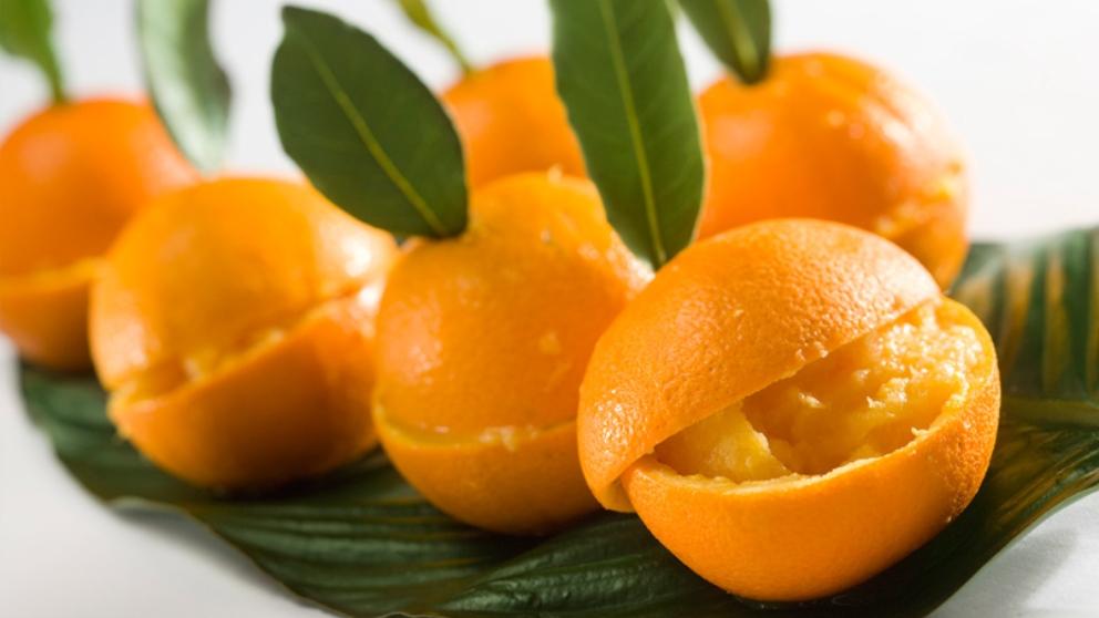 Receta de Helado de licor de naranja