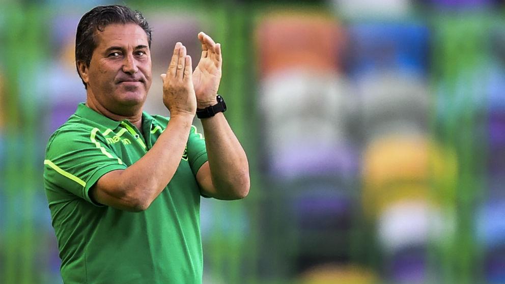 José Peseiro, en un partido con el Sporting de Lisboa. (AFP)