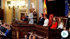 Meritxell Batet, durante su discurso de apertura de la Legislatura. (Efe)