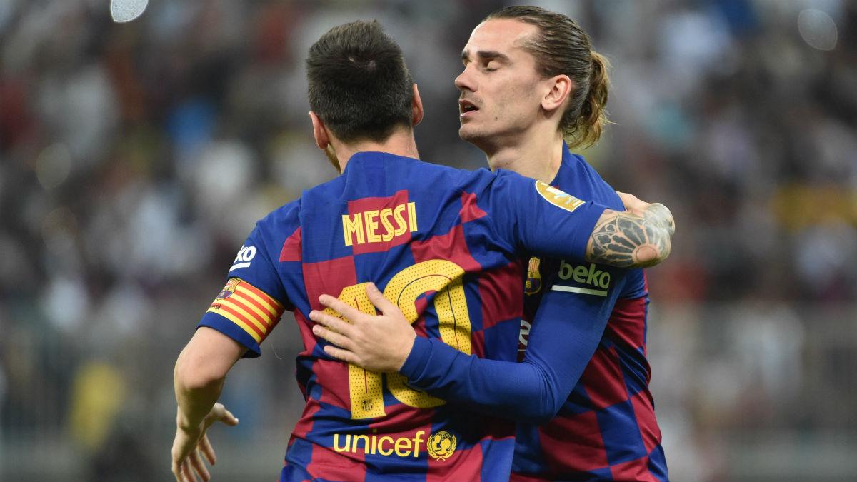 Messi y Griezmann, en un partido. (AFP)