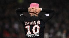 Neymar, el pasado sábado ante el Montpellier (AFP).