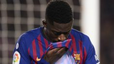 Dembélé es una ruina para el Barcelona. (AFP)