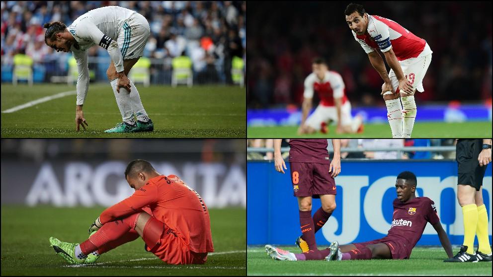 Jugadores golpeados por las lesiones.