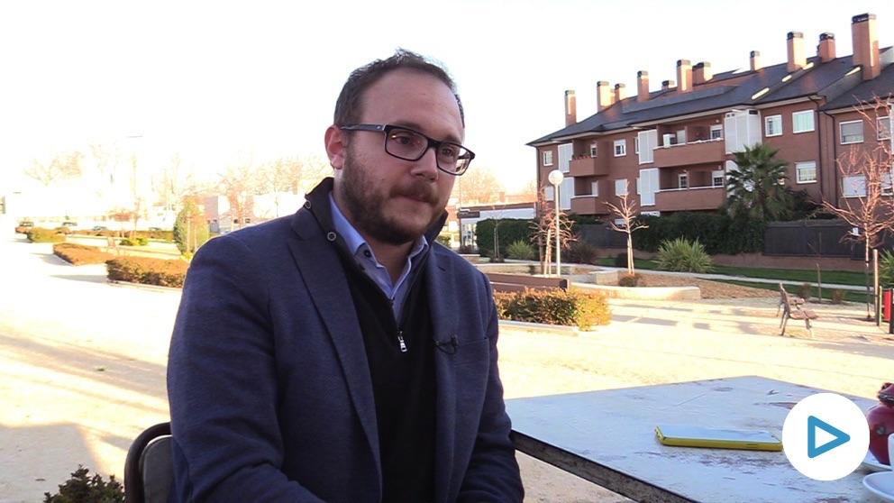 Nando Di Lolli, ex concejal portavoz del PSOE de Las Rozas. (Vídeo. Paco Toledo)