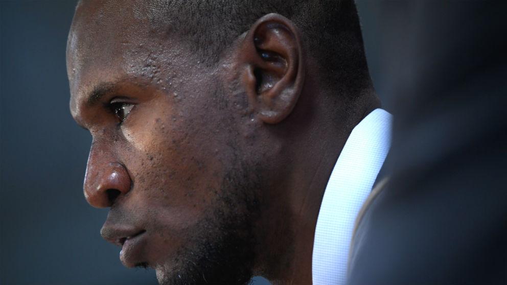 Abidal, en su presentación como director deportivo del Barcelona. (AFP)