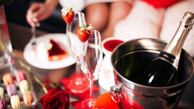 mesa San Valentín