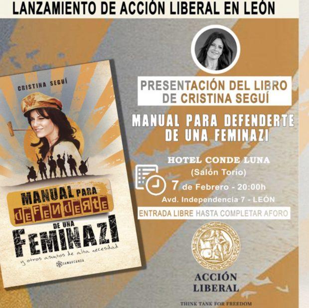 Nuevo boicot a la presentación del libro de Cristina Seguí, ahora en León