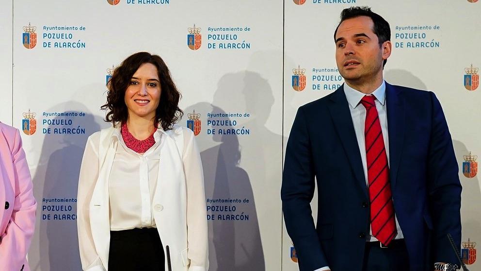 Isabel Díaz Ayuso e Ignacio Aguado en Pozuelo de Alarcón. (Foto. Madrid)
