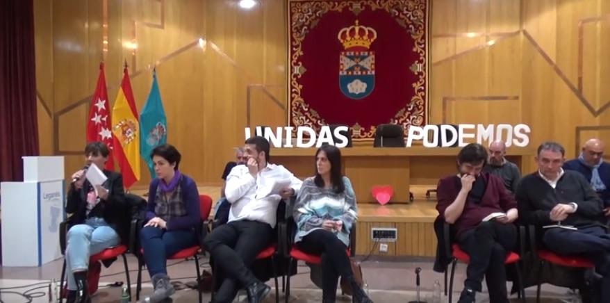 Asamblea de Podemos en Leganés.