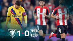 Messi, desolado en San Mamés.
