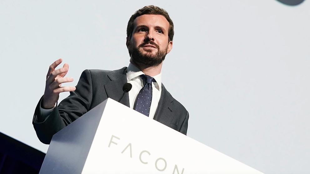 Pablo Casado en Faconauto. (Foto. PP)