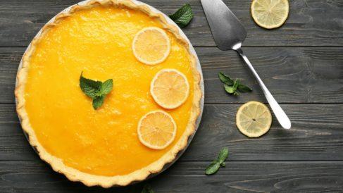 Tarta de limón vegana sin horno