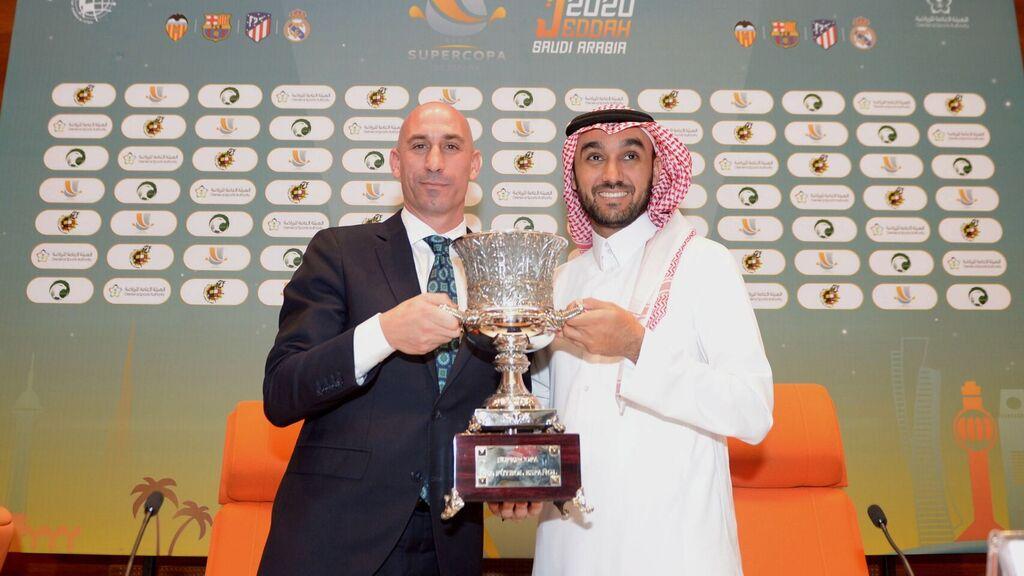 Rubiales, presentando la Supercopa de España (EFE).