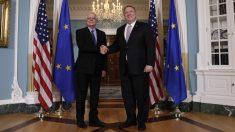 Josep Borrell y Mike Pompeo en Washington (Foto: EP)