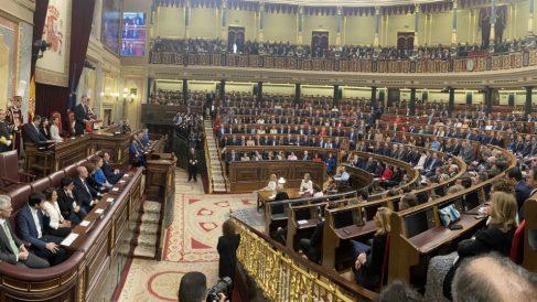 Hemiciclo del Congreso en la XIV Legislatura. (Foto: EP)