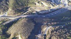 Desprendimiento de tierra en Zaldibar. Foto: EP