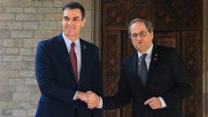Pedo Sánchez y Quim Torra en su última reunión.
