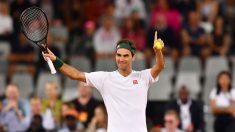 Federer se durante el duelo contra Nadal en el 'Match in Africa'. (Getty).