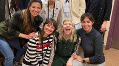 La cantante española Gisela junto a Aurora y las artistas que prestan sus voces a la BSO de Frozen en distintos lugares del mundo. Juntas actuarán en los Premios Oscar 2020.