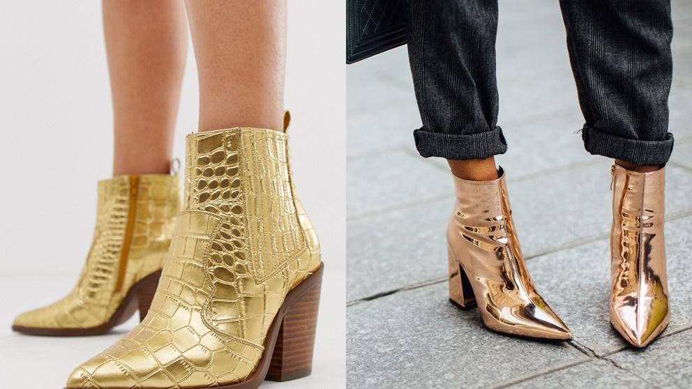 El dorado es uno de los tonos que más se llevan este año