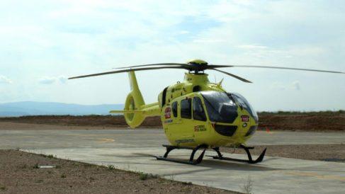 Uno de los helicópteros empleados por la compañía Eliance en el transporte aéreo sanitario.
