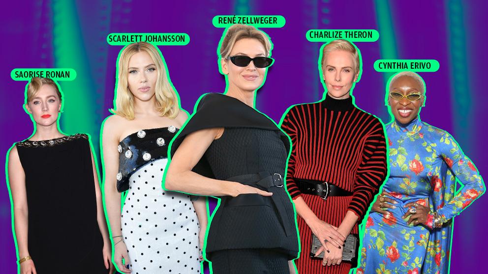 Cinco actrices compiten por el Oscar 2020: Scarlett Johansson, Cynthia Erivo, Charlize Theron, Saoirse Ronan y Renée Zellweger.
