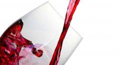 Copa de vino tinto.